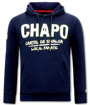 Local Fanatic Sudaderas Para Hombres  El Chapo -  Azul