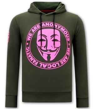 Local Fanatic Sudaderas Para Hombres We Are Anonymous - Verde