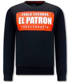 Local Fanatic Sudaderas Hombre  Pablo Escobar - Negro