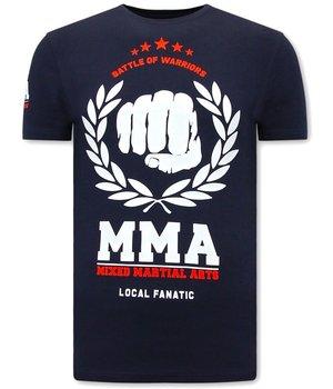 Local Fanatic MMA Fighter CamisetasHombre  - Azul