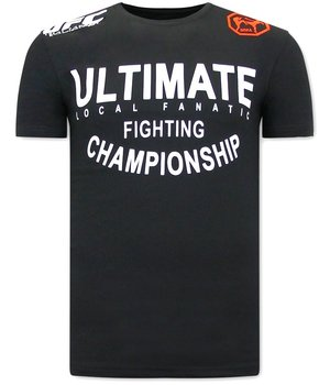 Local Fanatic UFC Ultimate CamisetasHombre - Negro