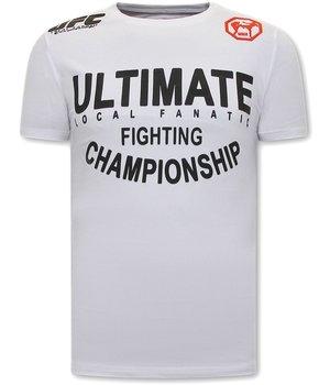 Local Fanatic UFC Ultimate CamisetasHombre - Blanco