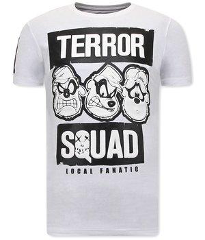 Local Fanatic Camisetas Divertidas Beagle Boys Squad  - Blanco