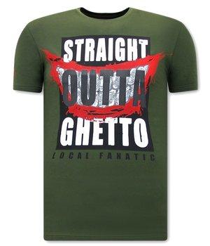 Local Fanatic CamisetasHombre Straight Outta Ghetto - Verde