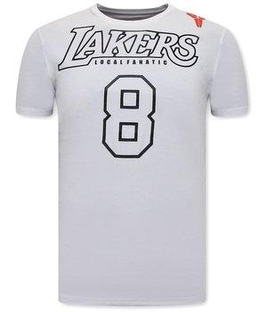 Local Fanatic Camisetas Estampadas Lakers 8 - Blanco