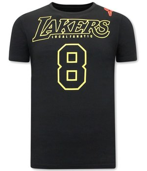 Local Fanatic Camisetas Estampadas Lakers 8 - Negro