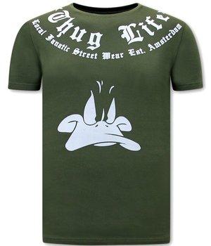 Local Fanatic Camisetas Estampadas Thug Life - Verde