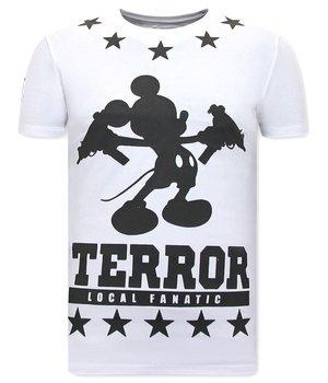 Local Fanatic Terror Mouse CamisetasPara Hombre - Blanco