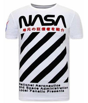 Local Fanatic NASA CamisetasHombre - Blanco