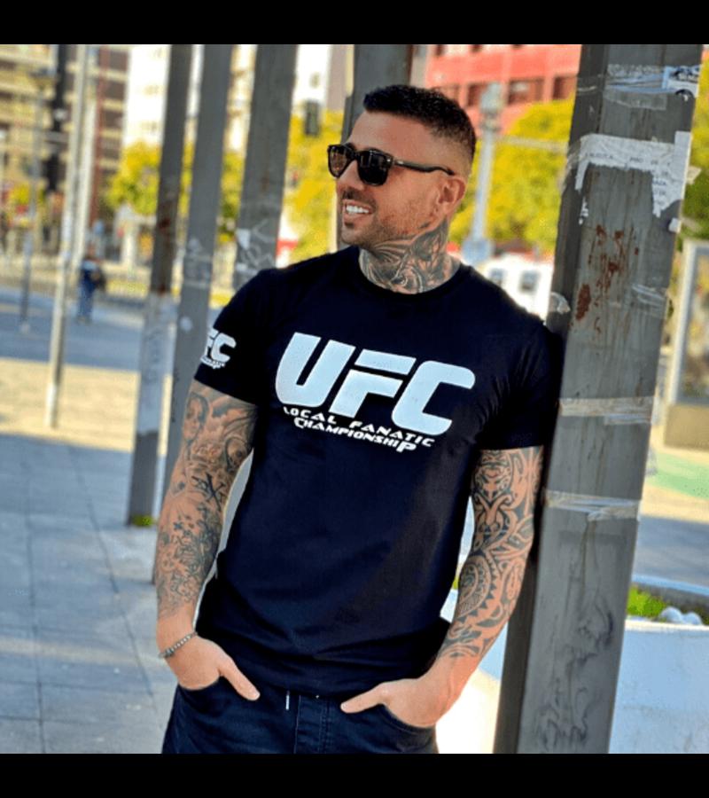 Local Fanatic Camiseta de Hombre - UFC Championship Print - Negro