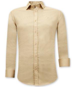 Tony Backer Camisa Clasica Hombre  - 3070 - Beige
