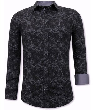 Tony Backer Camisa Con Estampado - 3068NW - Negro