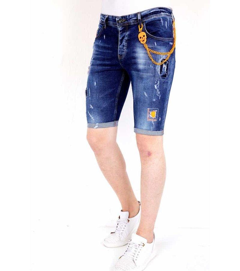 Local Fanatic Pantalones Vaqueros Cortos Hombre - 1016 - Azul