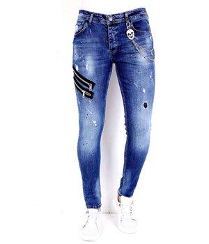 Local Fanatic Jeans Hombre Rotos - 1002 - Azul