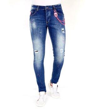 Local Fanatic Jeans Slim Salpicaduras Pintura  - 1036 - Azul