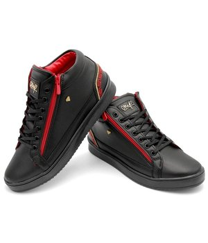 Cash Money Zapatos De Hombres Cesar Black Red - CMS98 - Negro