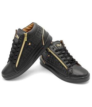 Cash Money Lo Mas Nuevo En Zapatillas Maya Full Black - CMS98 - Negro
