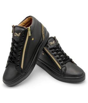 Cash Money Ultima Moda de Zapatillas Cesar Full Black - CMS98 - Negro