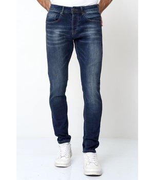 True Rise Pantalones Jeans Para Hombres Pitillos - D-3178 - Azul