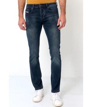 True Rise Vaqueros Slim Fit Hombre - A-11049 - Azul