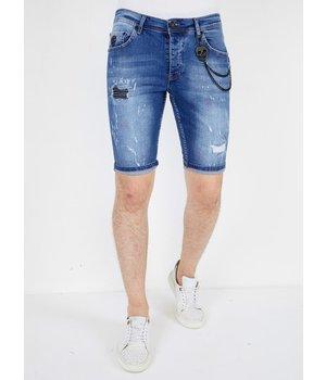 Local Fanatic Jeans Cortos Hombre - 1043 - Azul