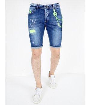 Local Fanatic Pantalones Cortos Para Hombre - 1044 - Azul