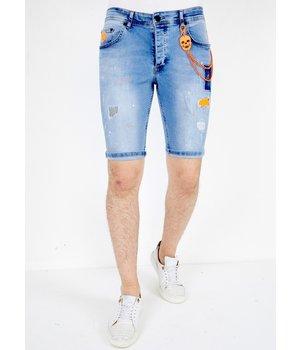 Local Fanatic Jeans Cortos Hombre - 1040 - Azul