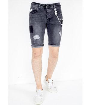 Local Fanatic Pantalones Cortos Vaqueros Rotos Hombre - 1050 - Negro
