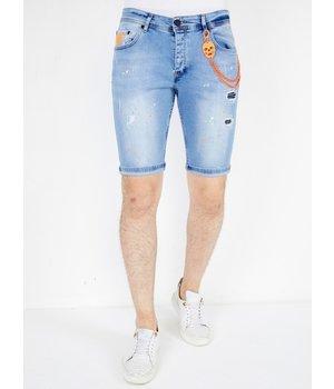 Local Fanatic Pantalones Tejanos Cortos Hombre - 1048 - Azul