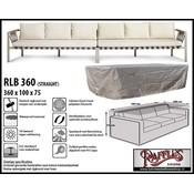 Raffles Covers Loungebank beschermhoes 360 x 100 H: 75 cm