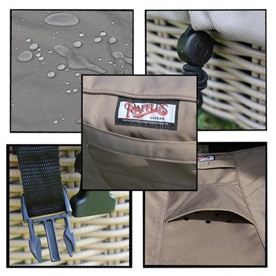 Raffles Covers Hoes voor hoekbank dining 260 x 260 x 95, H: 100 / 65 cm