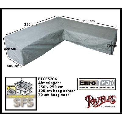 Tuinmeubelhoes voor hoekbank 250 x 250 H: 105 / 70 cm
