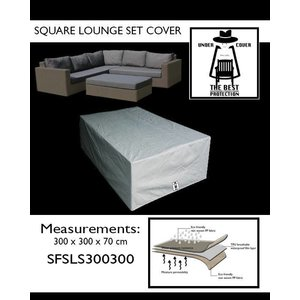 Afdekhoes voor complete loungeset, 300 x 300 H: 70 cm