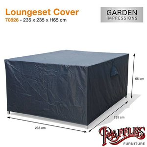 Loungesethoes voor complete set, 235 x 235 H: 65 cm