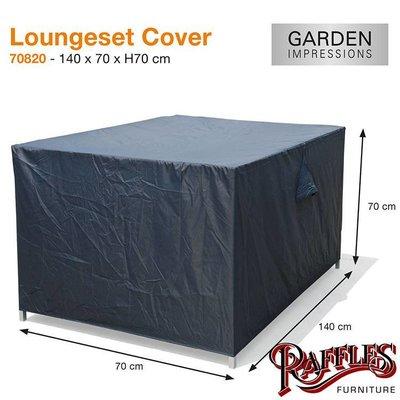 Garden Impressions Loungebank beschermhoes 140 x 70 H: 70 cm