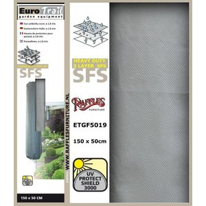 Hoes voor muurparasol, H: 150 cm