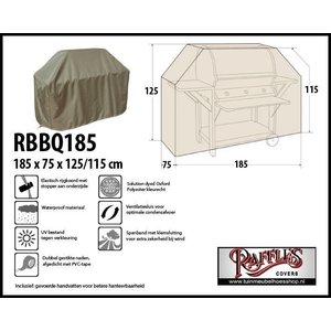 Barbecue afdekhoes, 185 x 75 H: 125 / 115 cm