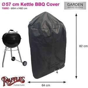 Ronde barbecue hoes, Ø: 57 H: 83 cm