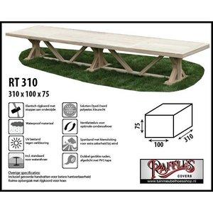 Hoes voor over tuintafel, 310 x 100 H: 75 cm