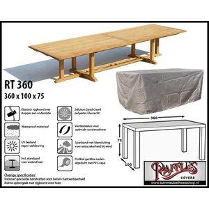 Hoes buiten tafel, 360 x 100 H: 75 cm