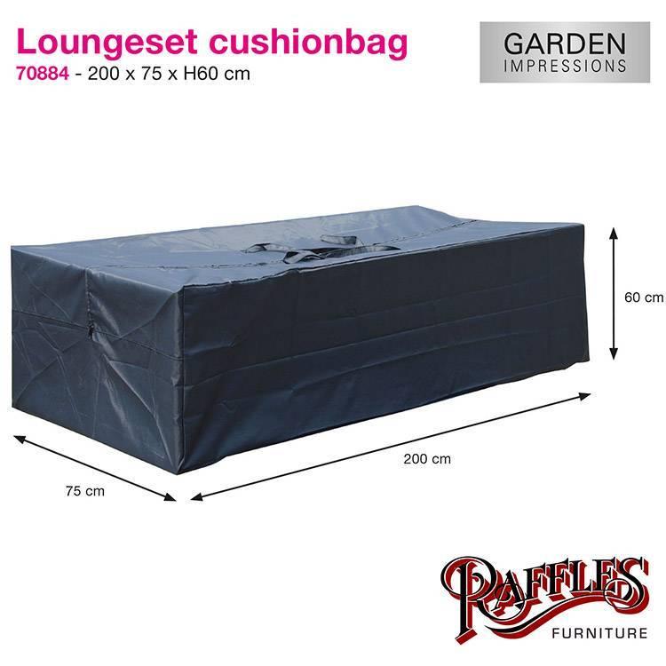 Kussen 200 X 60.Tas Voor Loungekussens 200x75x60cm Tuinmeubelhoesshop