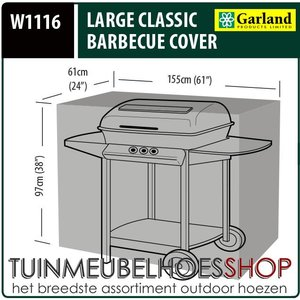 Buitenhoes barbecue, 155 x 61 H: 97 cm