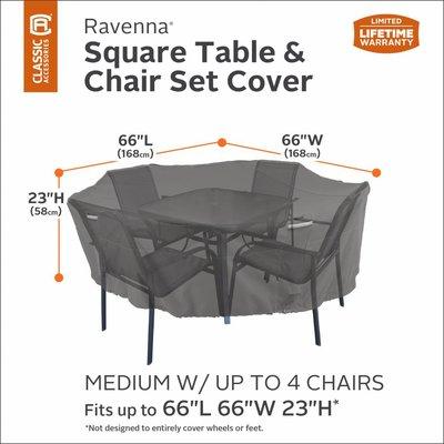 Hoes vierkante tuin of lounge set 168 x 168 cm H: 58 cm