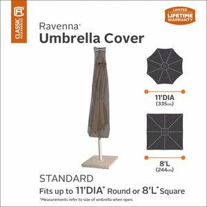 Standaard parasol hoes, H: 185 cm