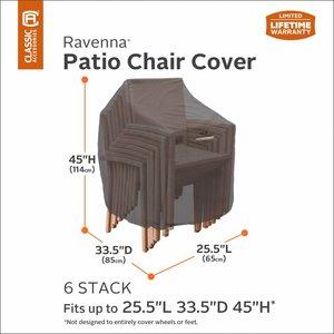Hoes voor 4 of 6 stapelstoelen, 85 x 65 H: 114 cm