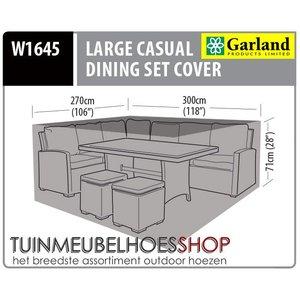 Hoek lounge dining set hoes, 300 x 270  H: 71 cm