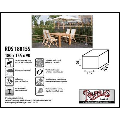 Hoes voor tuintafel met stoelen 180 x 155 H: 90 cm