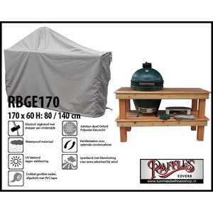 Hoes voor Green Egg BBQ, 170 x 60 H: 80 / 140 cm