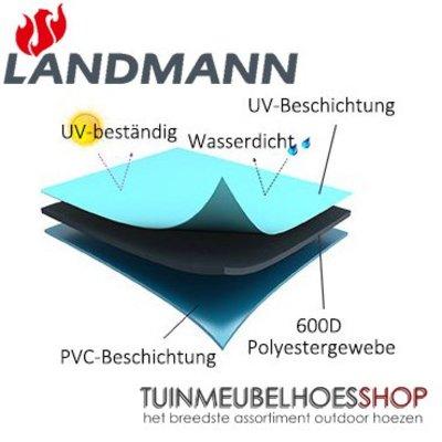 Landmann Smoker Wagon hoes 140 x 65 cm H: 90 / 130 cm