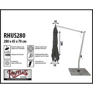 Hoes voor een hangparasol, H: 280 cm